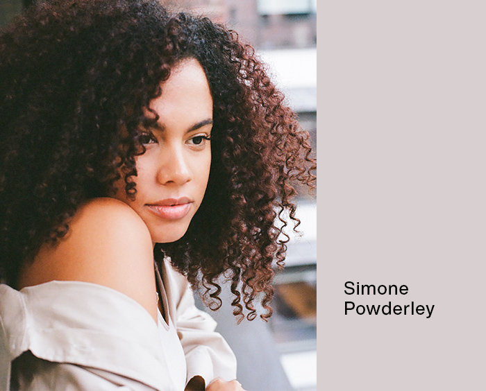 Simone Powderly: woman looking over shoulder